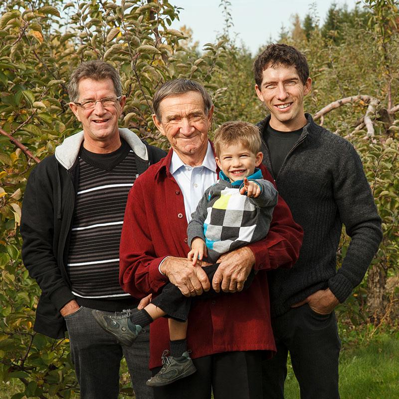 4 générations de la famille Vigneault